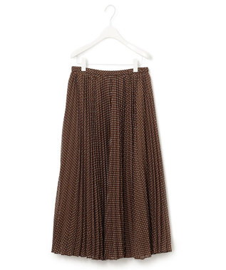 23区 S 【マガジン掲載】スクエアドット プリーツ スカート(番号2C26) ブラウン系