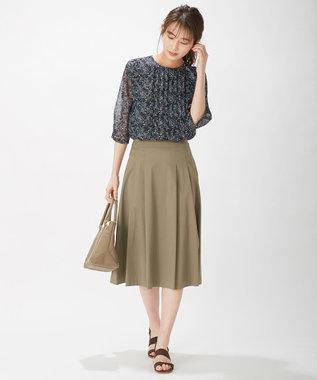 J.PRESS LADIES L 【洗える】60/2コットンナイロンシルキーローン スカート カーキ系