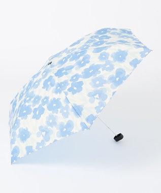 ONWARD CROSSET STORE 【Wpc】GRADATION FLOWER mini 雨天兼用折傘・ポーチ型収納ケース付 ブルー