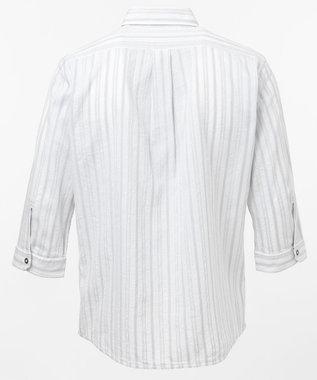 JOSEPH ABBOUD ジョーコットンリバーシブル 七分袖シャツ ホワイト系
