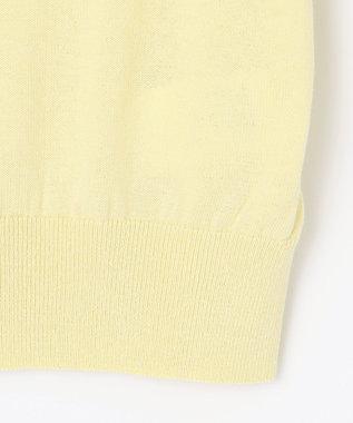 any SiS S 【洗える】ハーフスリーブ カーディガン ライトイエロー系