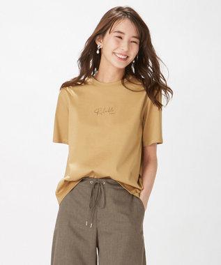 J.PRESS LADIES S PRINT TEE Tシャツ キャメル系