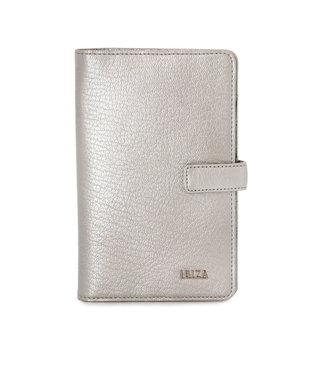 IBIZA ルス やぎ革 カードケース シルバー