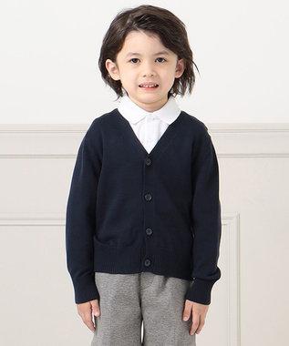 J.PRESS KIDS 【100-130cm】12GA/Cニット カーディガン ネイビー系