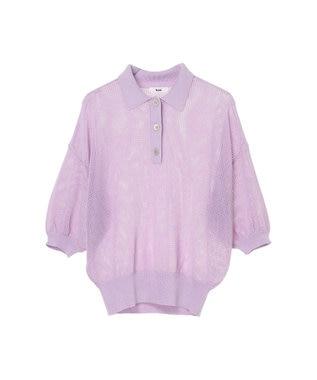 koe シアーニットポロシャツ