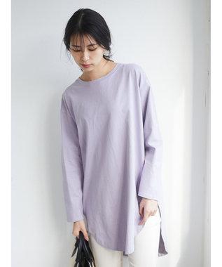 Green Parks ・SUGAR SPOON バックドットリングチュニック Lavender