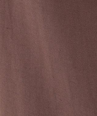 自由区 【Sサイズ有】リネン エンブロイダリー ワイドパンツ ダークブラウン系