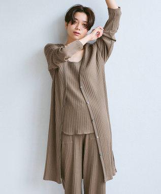 23区 【ラウンジウェア】アイレットテレコ カーディガン