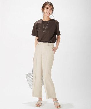 J.PRESS LADIES S PRINT TEE Tシャツ ダークブラウン系