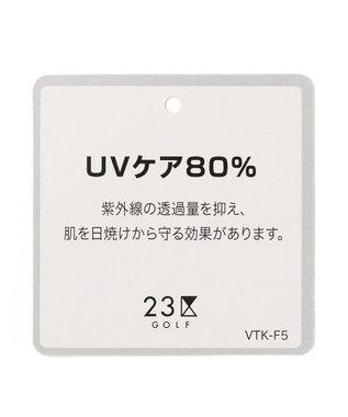 23区GOLF 【WOMEN】【UV/吸汗速乾】オリジナルパレードプリント ストレッチメッシュ シャツ ホワイト系5