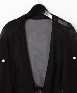 GRACE CONTINENTAL シアーショートジャケット ブラック