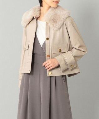 GRACE CONTINENTAL ウールボア衿レザージャケット
