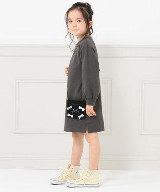 組曲 KIDS 【WEB限定/100-140cm】ポシェット付き ワンピース グレー系