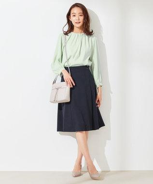 any SiS 【洗える】シルキーライトクロス ブラウス ミント