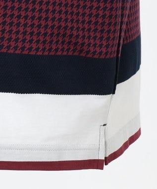 DAKS GOLF 【MEN】千鳥ビッグボーダー ポロシャツ ネイビー系1