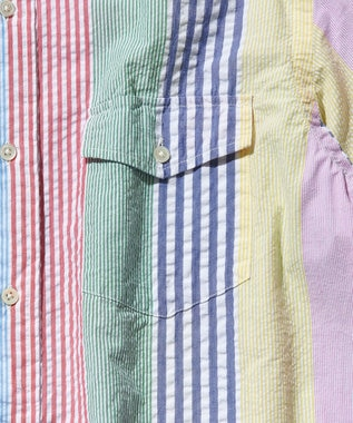 J.PRESS MEN サッカーストライプ/チェック ボタンダウンシャツ ブルー系8