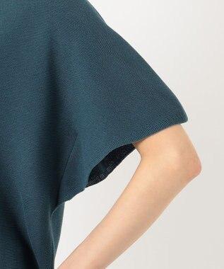 any FAM L 【洗える】ウォッシャブルガーターニットTシャツ グリーン系
