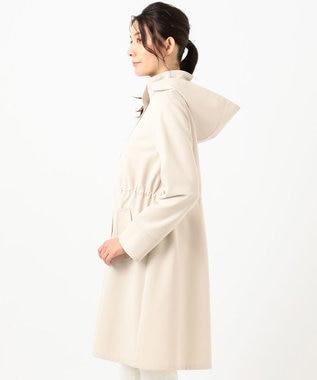 any SiS 【洗える】フーデットロング アウター アイボリー系