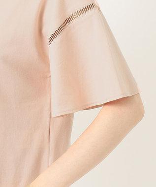 組曲 【洗える】コットンテンジク フレアスリーブ カットソー ピンク系