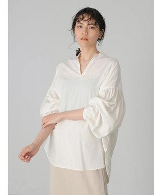AMERICAN HOLIC 袖ギャザースキッパーシャツ Off White