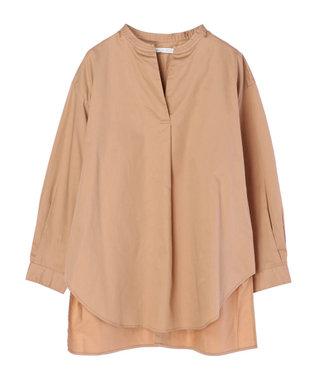 AMERICAN HOLIC バックボタンスキッパーシャツチュニック Camel