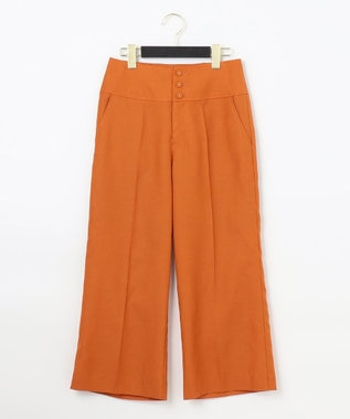 GRACE CONTINENTAL リネンタッチクロップドパンツ オレンジ