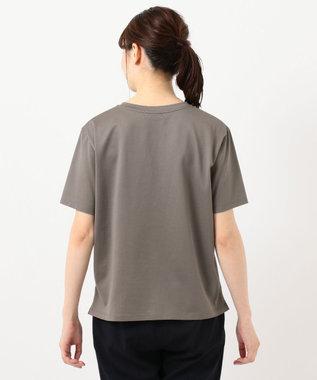 J.PRESS LADIES ミニロゴ Tシャツ ブラウン系