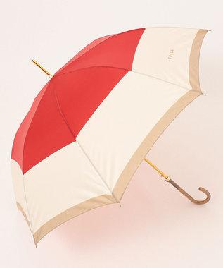 MOONBAT 【耐風】FURLA 長傘 カラーボーダー レッド