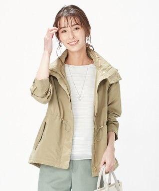 J.PRESS LADIES S 【WEB限定色あり】洗えるヒーリングタフタ ショートブルゾン モカ系