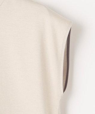 自由区 【UNFILO/撥水・汗シミ防止】カラーファンクション ノースリーブ Tシャツ ベージュ系