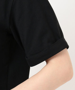 Feroux 【洗える】Flower Language Tシャツ ブラック系