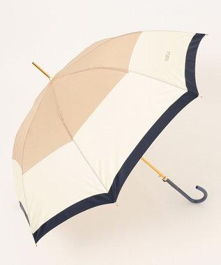 MOONBAT 【耐風】FURLA 長傘 カラーボーダー ベージュ