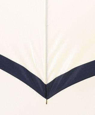 MOONBAT 【耐風】FURLA 長傘 カラーボーダー ネイビーブルー