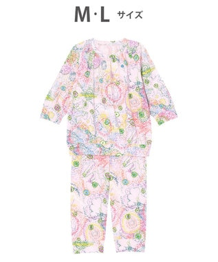 tsumori chisato SLEEP パジャマ 8分袖8分パンツ 太陽、地球、星 /ワコール UDO257 ピンク