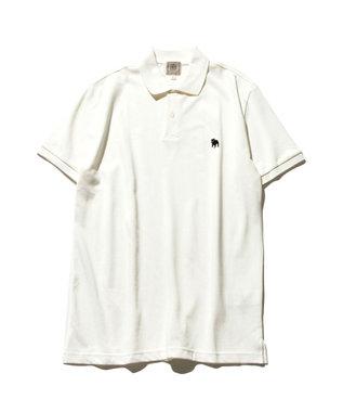 J.PRESS MEN 【大人気】アメリカンコットン 鹿の子 バックブル ポロシャツ ホワイト系