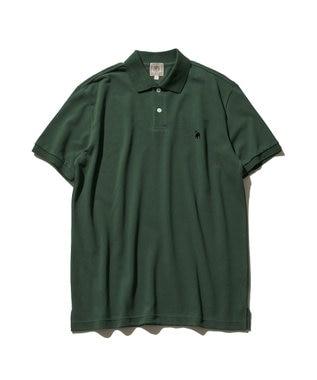 J.PRESS MEN 【大人気】アメリカンコットン 鹿の子 バックブル ポロシャツ グリーン系