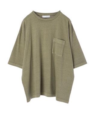 Green Parks 加工ビッグシルエットTシャツ Khaki