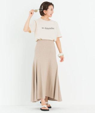 23区 【マガジン掲載】ハイブリットコットンストレッチ スカート(番号2K47) ベージュ系