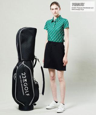 23区GOLF 【WOMEN】【Fondation/WEB限定】【ストレッチ】JERSY スカート ブラック系