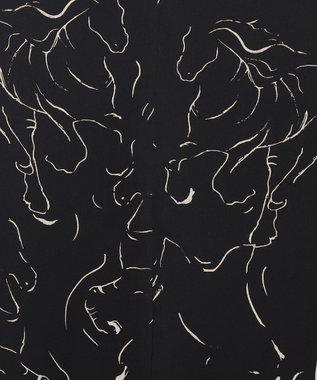 #Newans 【洗える】アーティスティックゼブラキャミソールワンピース ブラック系5