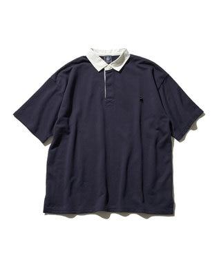 J.PRESS MEN 【大人気】バックブル ラガーポロシャツ ネイビー系