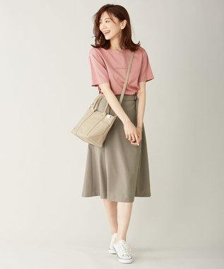 J.PRESS LADIES ミニロゴ Tシャツ ピンク系