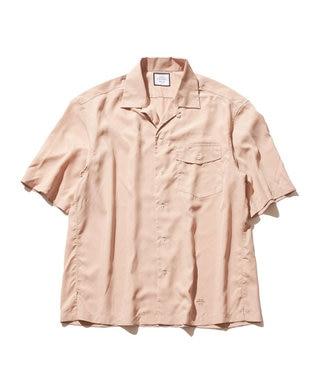 J.PRESS YORK STREET 【UNISEX】パウダーシフォン オープンカラーシャツ ピンク系