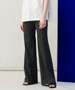 JOSEPH 【柚香 光さん着用】メランジバイストレッチ フレアーパンツ グレー系