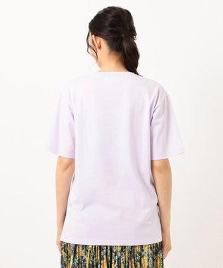any FAM 【オーガニックコットン】オーガビッツロゴ Tシャツ ライラック系