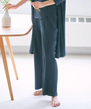 23区 【ラウンジウェア】アイレットテレコ リラックス パンツ