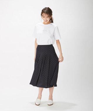 J.PRESS LADIES S PRINT TEE Tシャツ ホワイト系