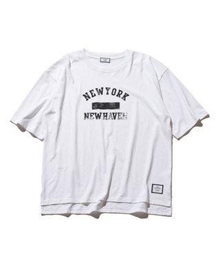 J.PRESS YORK STREET 【UNISEX】 カレッジ Tシャツ ホワイト系
