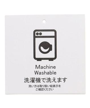 SHARE PARK LADIES 【洗える】フハクコンビノースリーブプルオーバー ライトグリーン系