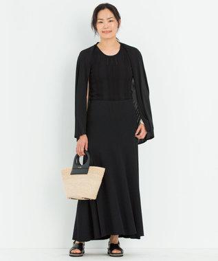 23区 【マガジン掲載】ハイブリットコットンストレッチ スカート(番号2K47) ブラック系